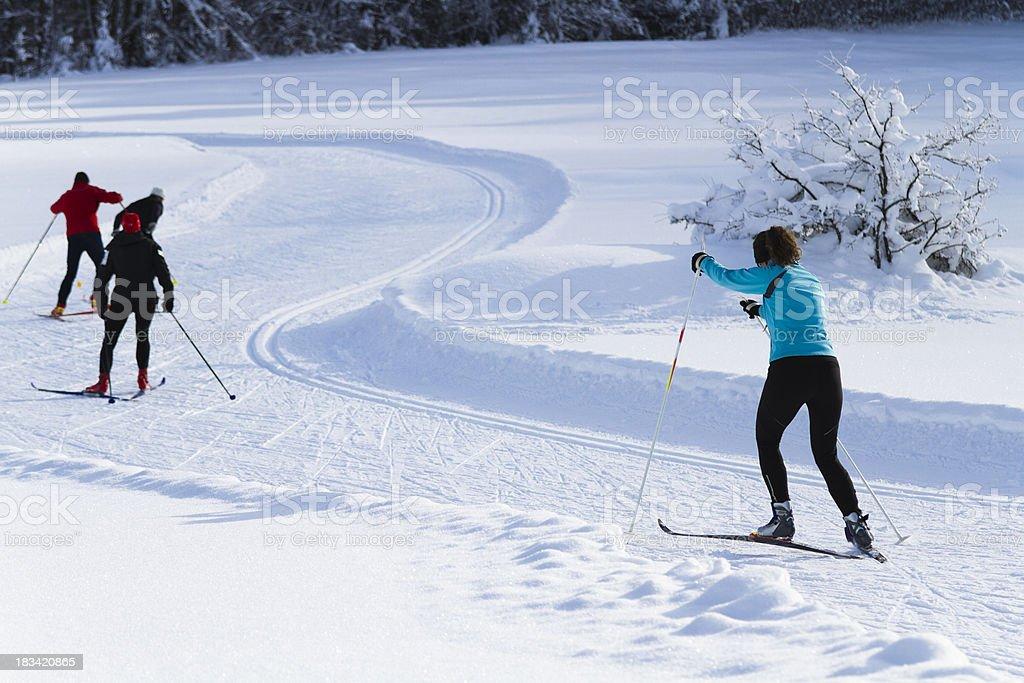 winter recreation stock photo