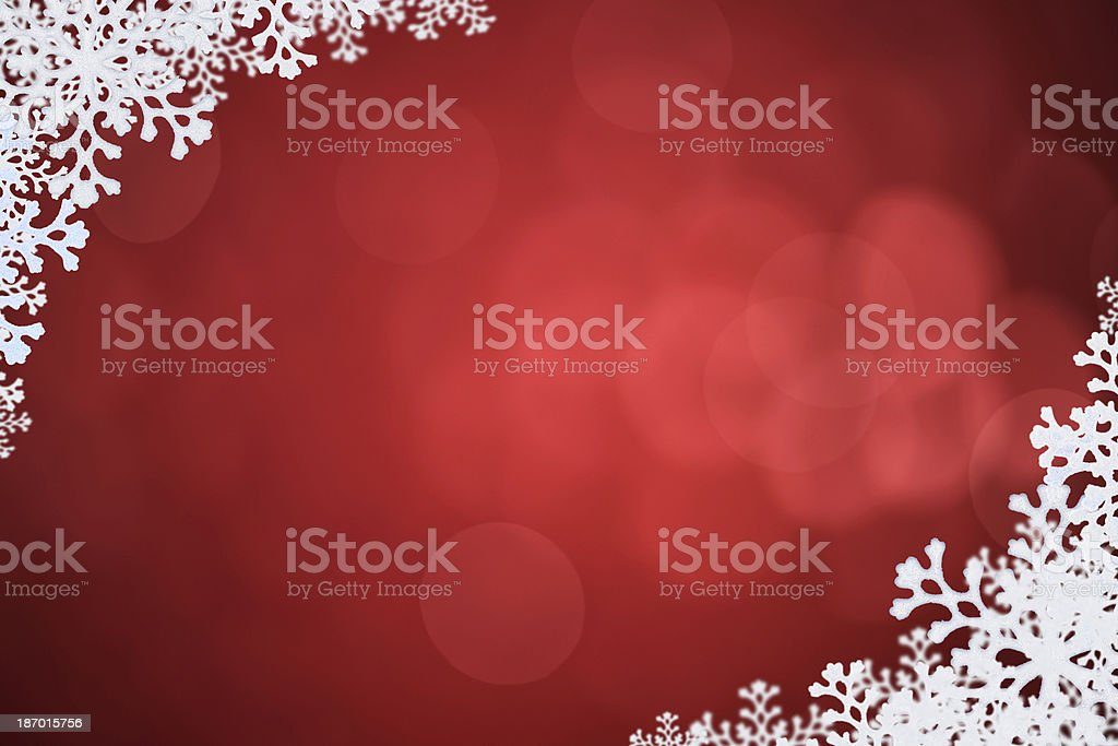 Winter Red Background royalty-free stock photo