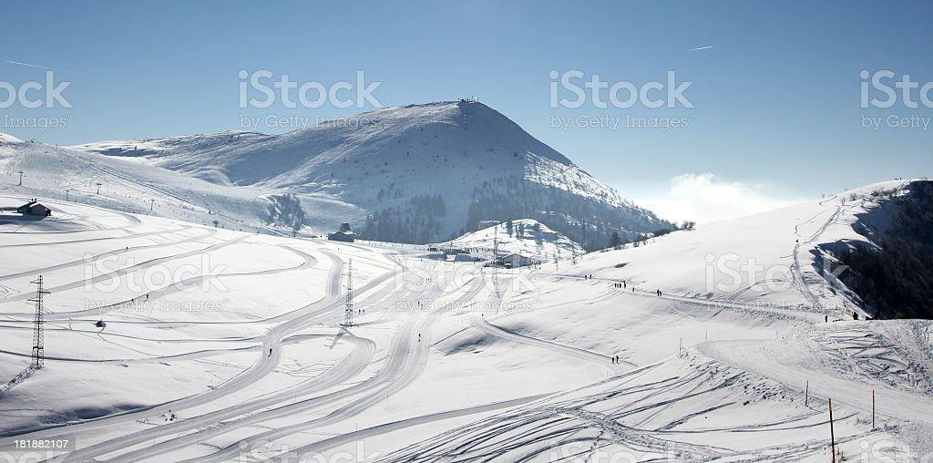 Winter resort royalty-free stock photo
