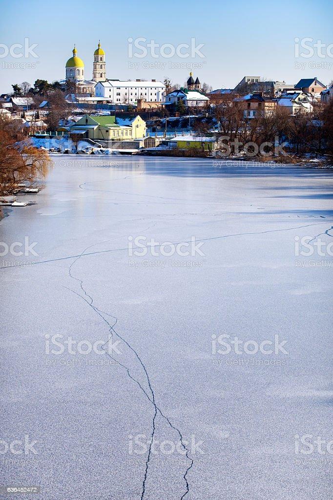 Winter. River. Bila Tserkva. stock photo