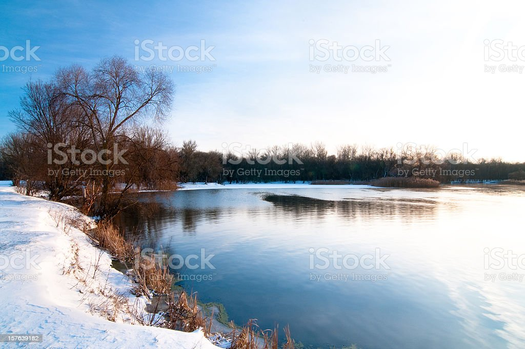 Winter River royalty-free stock photo
