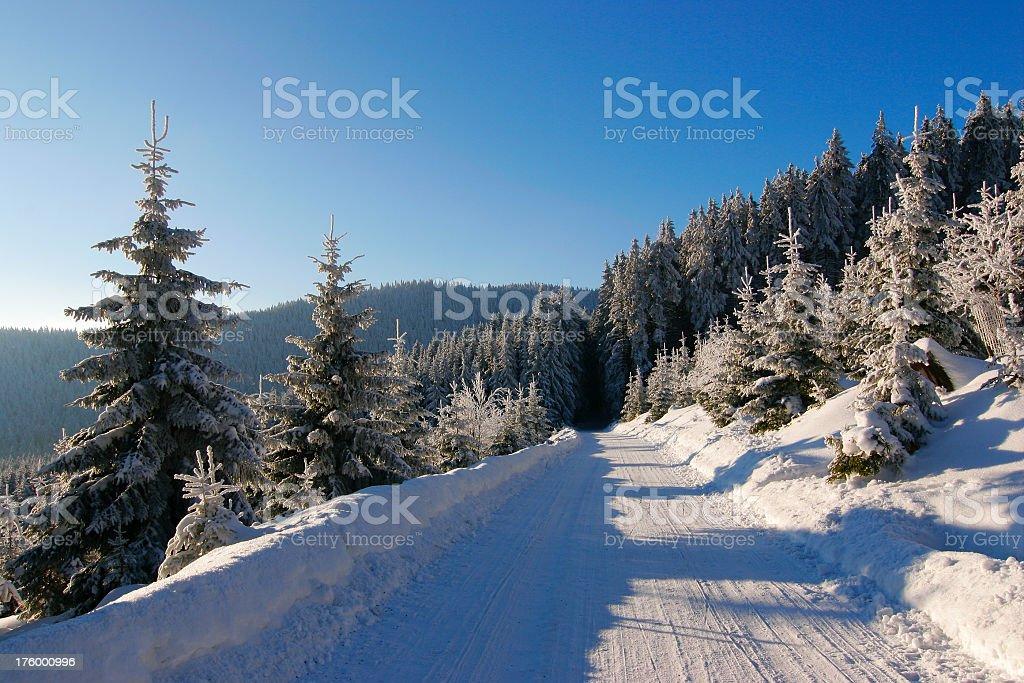 Winter Road II royalty-free stock photo