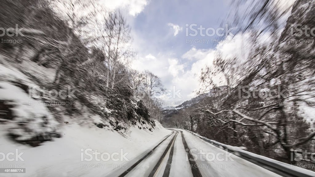 winter roads stock photo