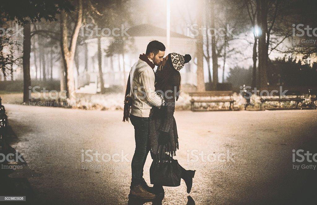 Winter romance. stock photo