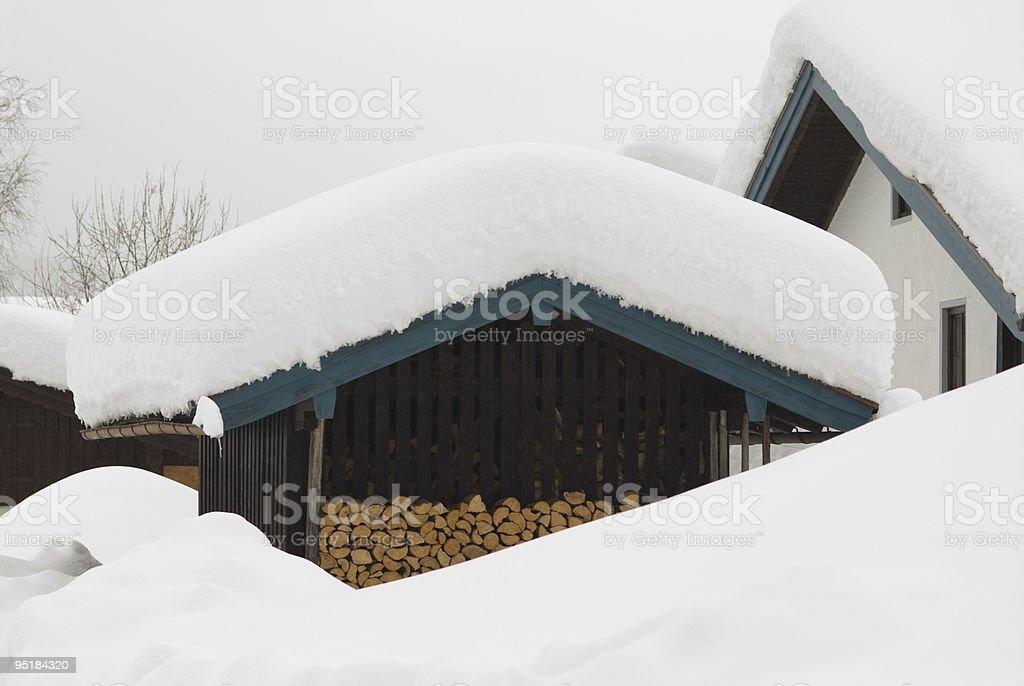 Inverno tetto foto stock royalty-free