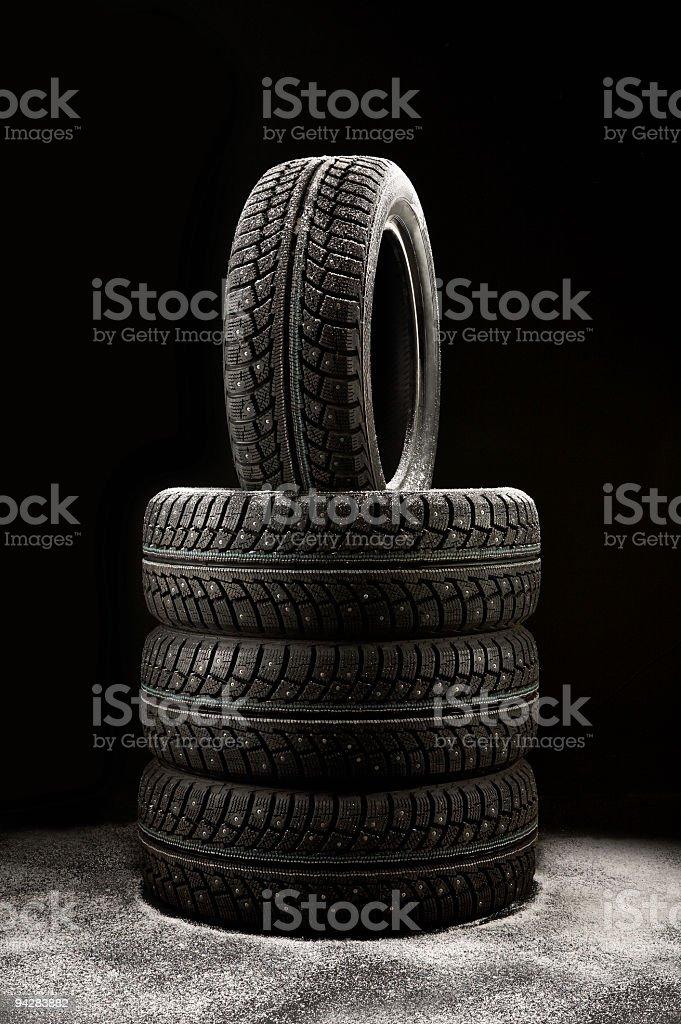 Winter rubber stock photo