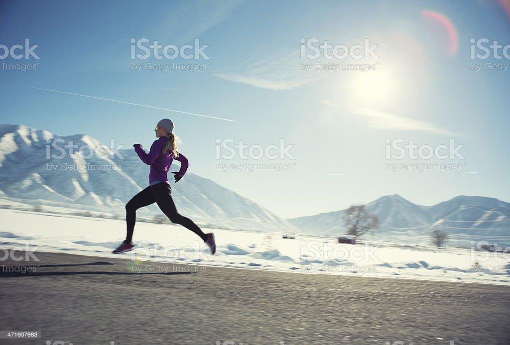 Winter Run royalty-free stock photo