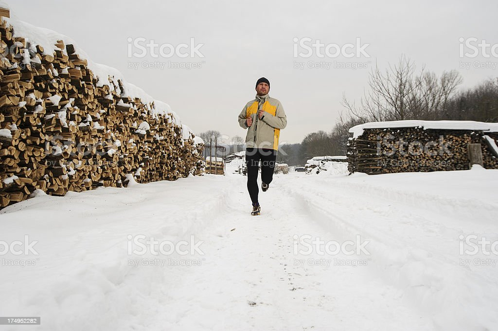 Winter Running royalty-free stock photo