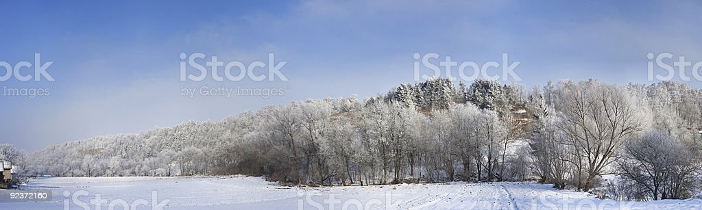 Winter rural landscape royalty-free stock photo