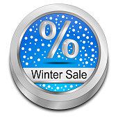Winter Sale Button - 3D illustration