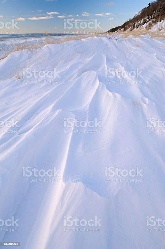 Winter, Saugatuck Dunes stock photo