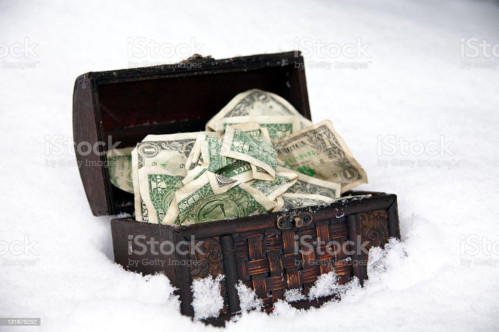 Winter Savings stock photo