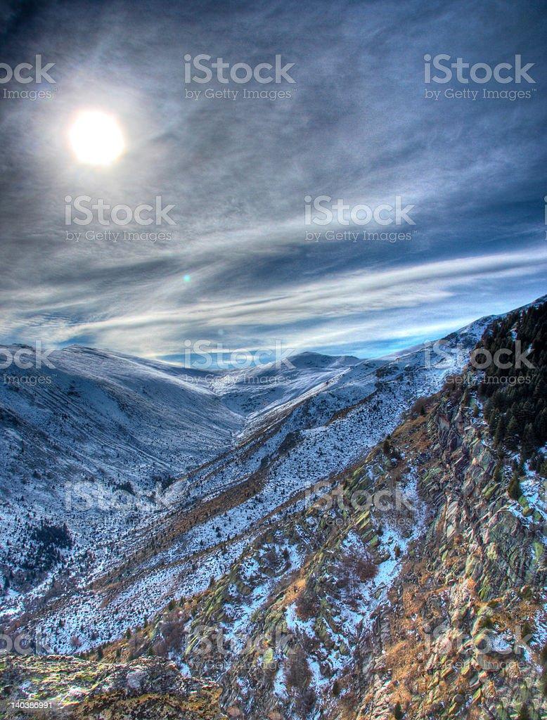Winter scene from national park Pelister, Macedonia royalty-free stock photo