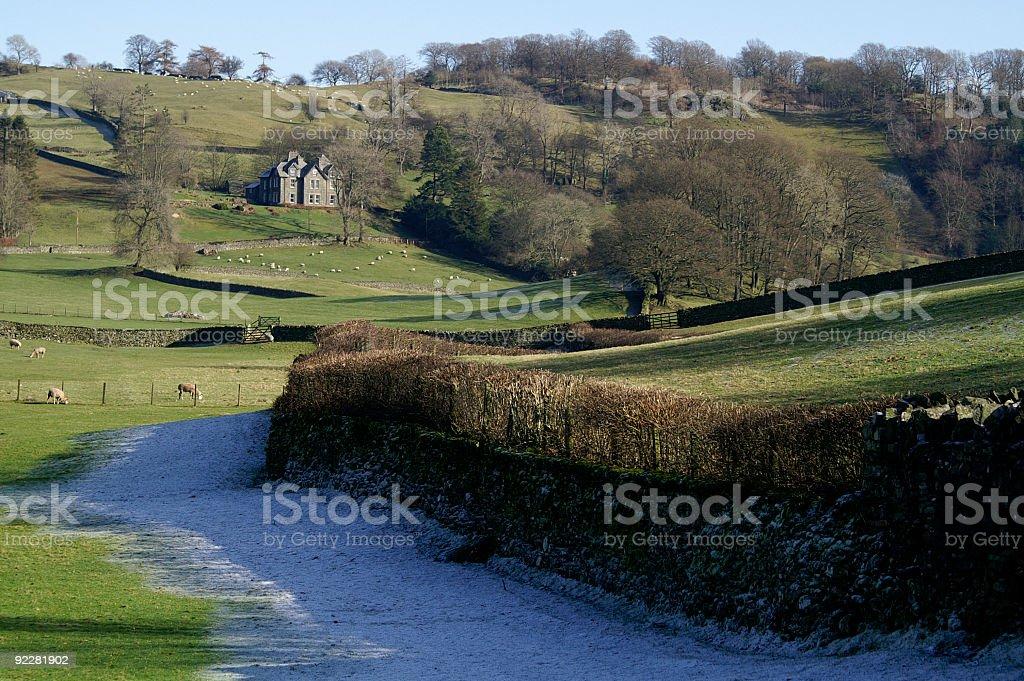 Winter scene in Cumbria stock photo