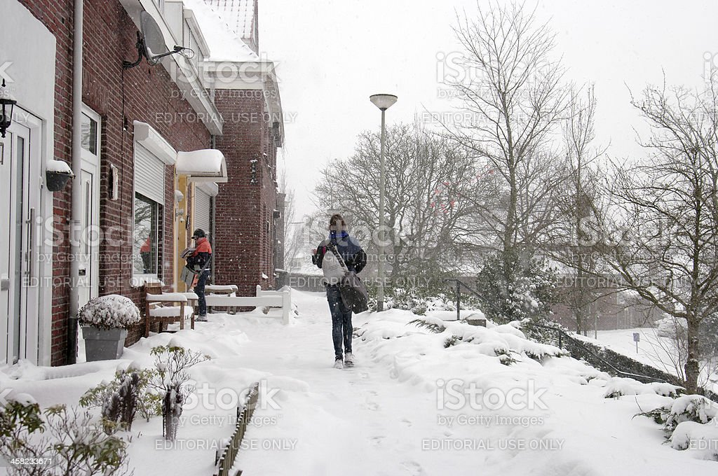 Winter scene in Holland royalty-free stock photo