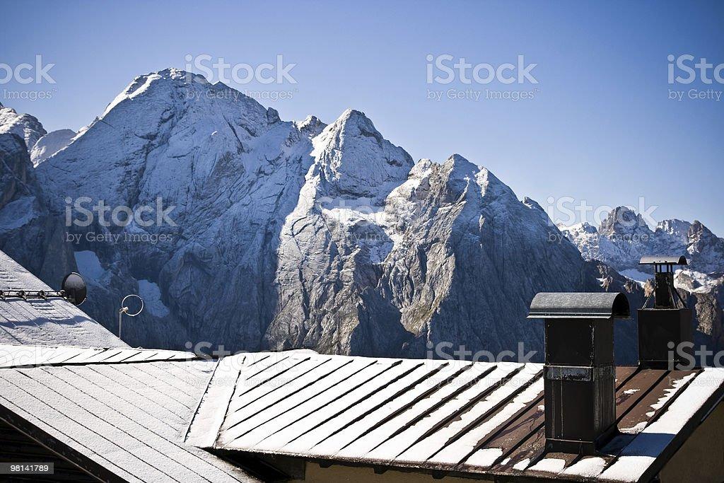 Winter scene in the Italian Alps Nobody royalty-free stock photo