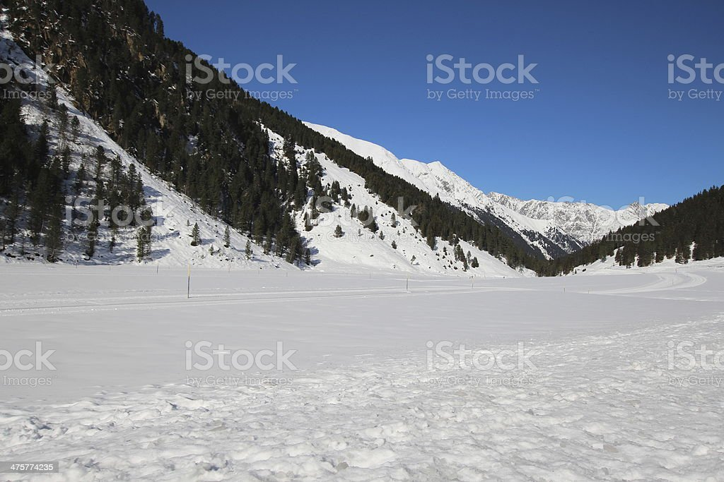 Winter scenery, cross-country skiing, L?sens, Tyrol, Austria royalty-free stock photo