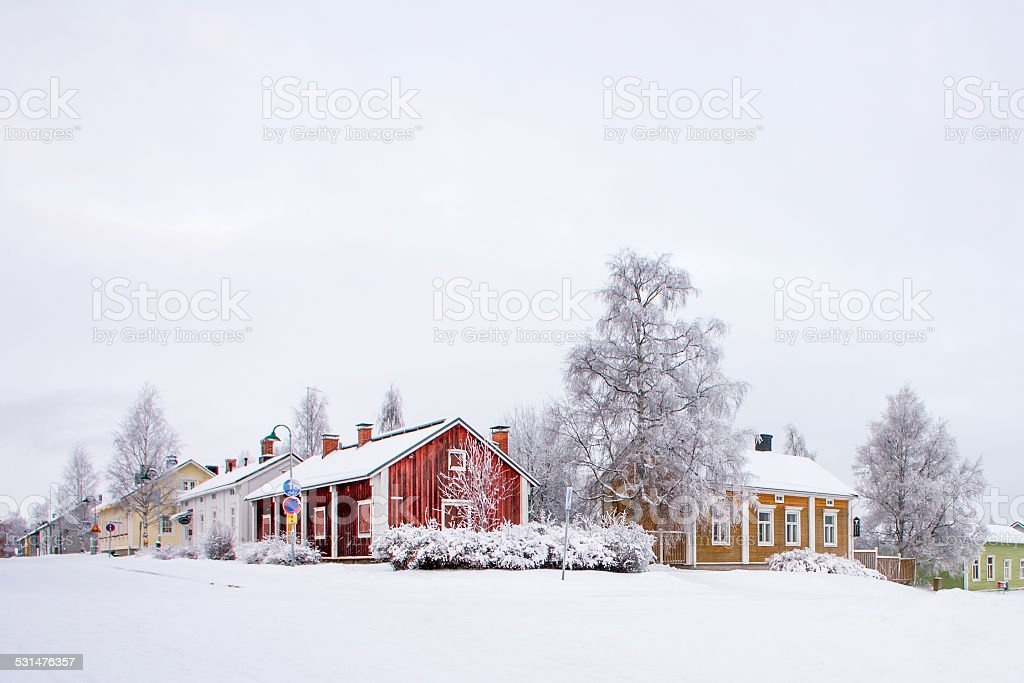Winter scenery from Oulu Finland stock photo