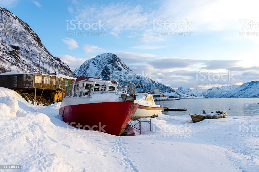 Winter Scenery in Norway stock photo