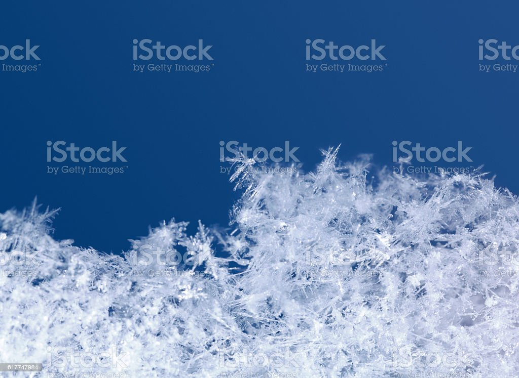 Winter scenic of snowflakes stock photo