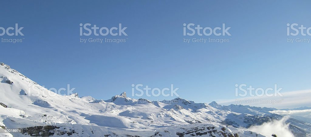 Winter Scenics Panorama royalty-free stock photo