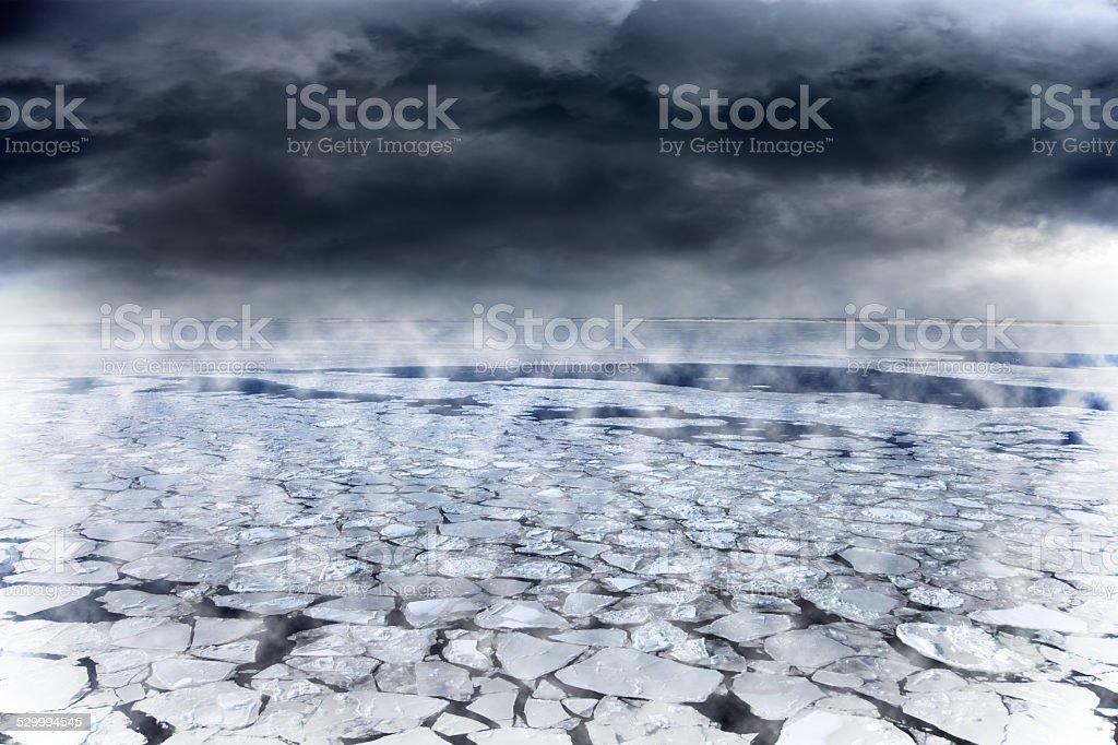 Winter seascape stock photo