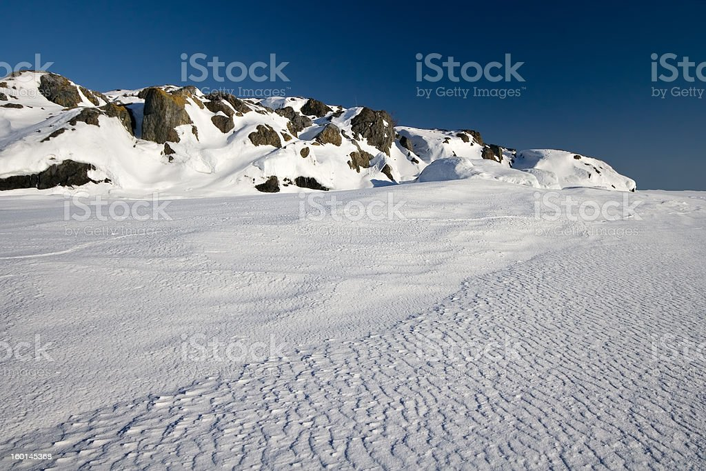 Winter seascape with blue sky royalty-free stock photo