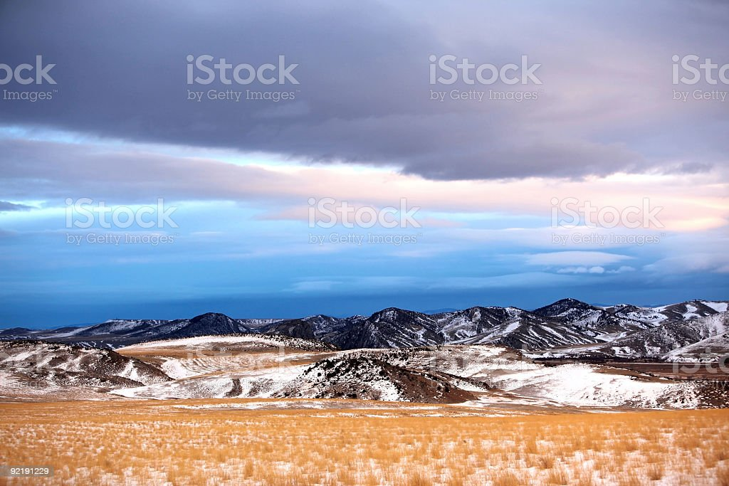 winter season in rural area of Montana, USA royalty-free stock photo
