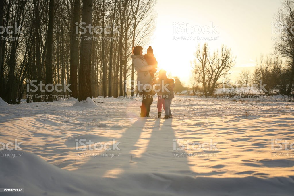 Winter season. stock photo