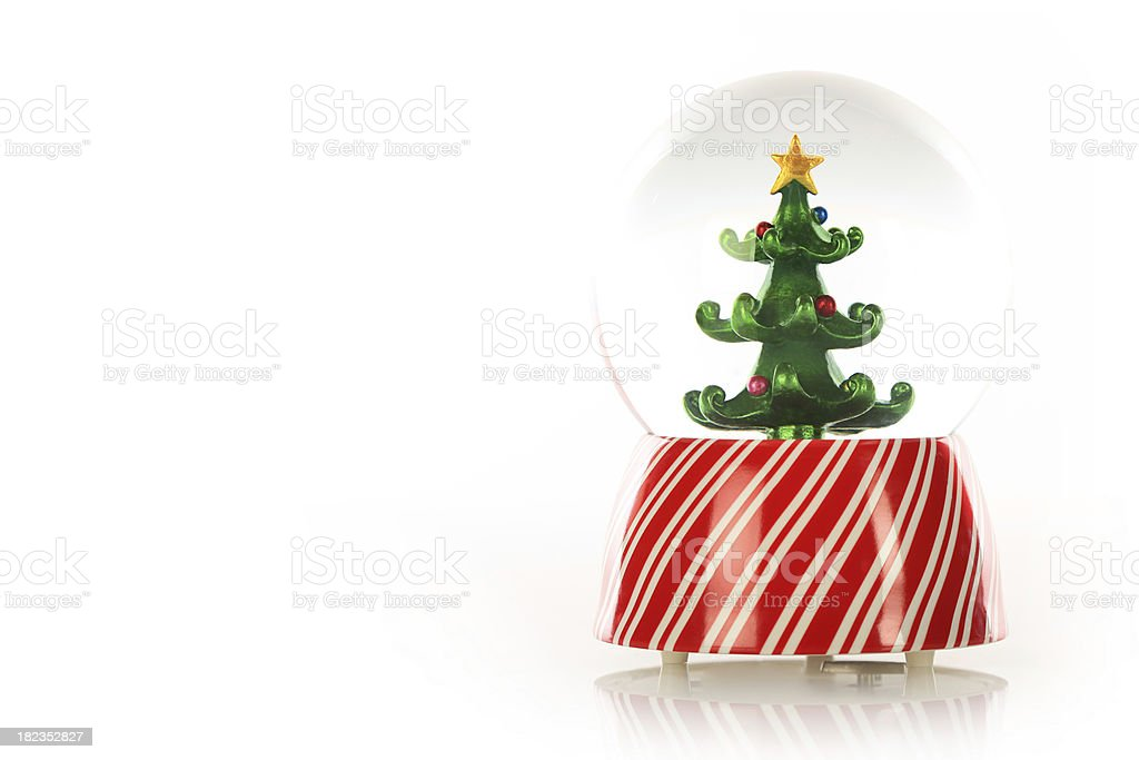 Winter Seasons Greetings with a Christmas Tree stock photo