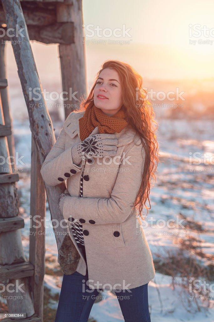 Winter serenity stock photo
