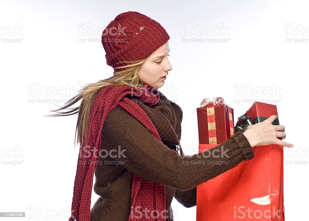 Winter Shopping royalty-free stock photo