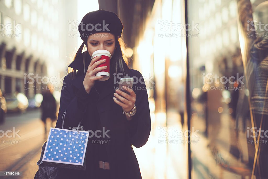shopping en hiver - Photo