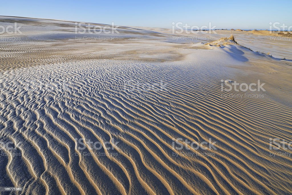 Winter, Silver Lake Sand Dunes royalty-free stock photo