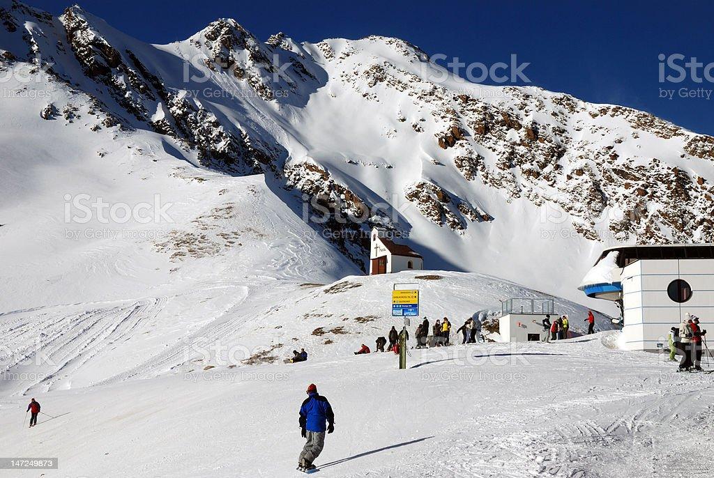 Winter ski alpen royalty-free stock photo