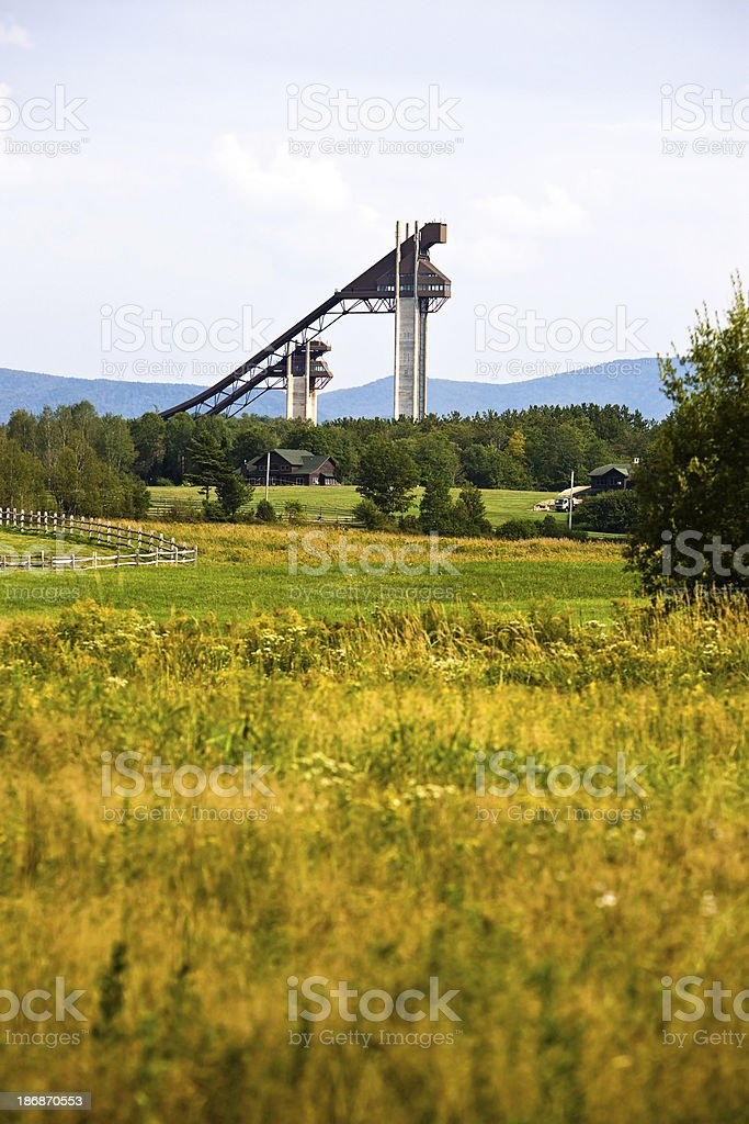 Winter Ski Jumps stock photo