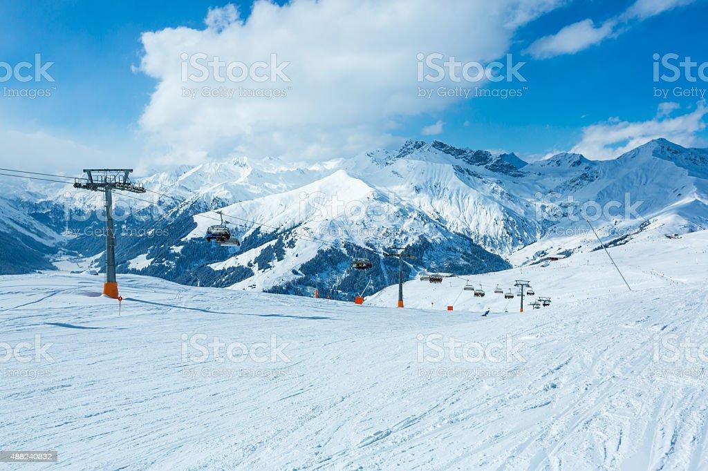 Winter ski resort Mayrhofen, Tirol, Austria stock photo