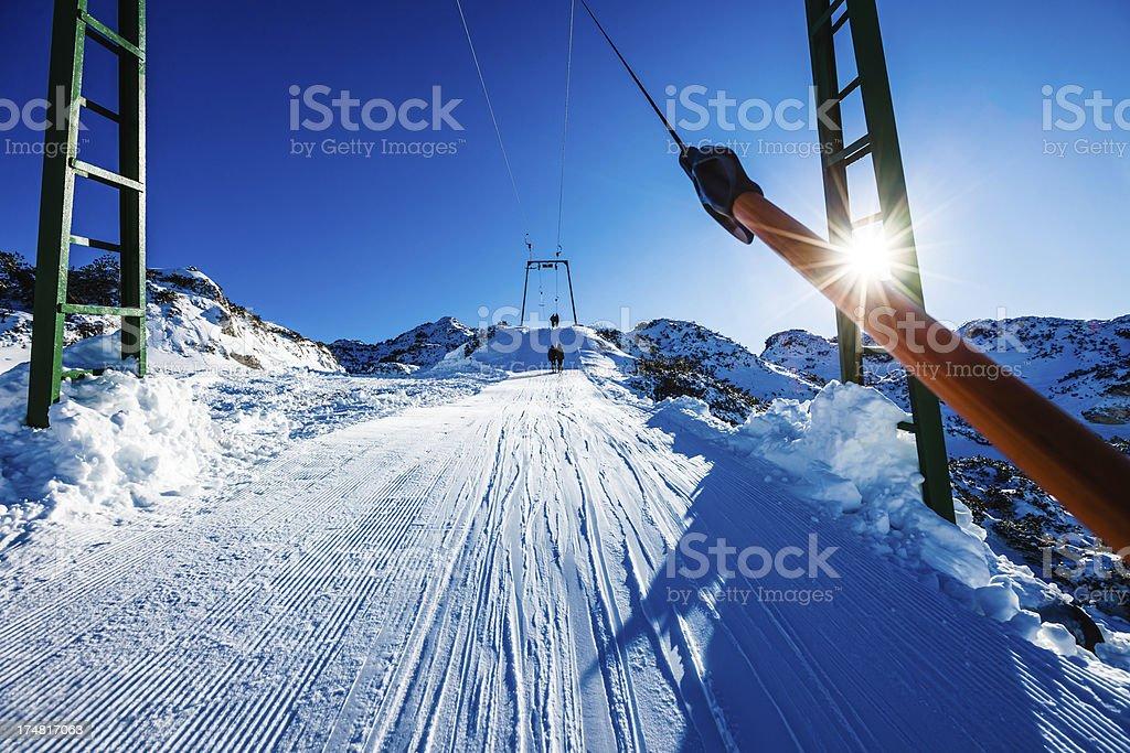 Winter ski resort royalty-free stock photo