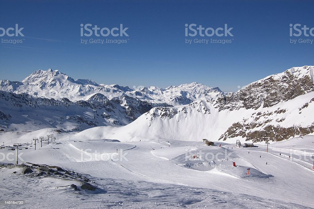 winter ski resort view royalty-free stock photo