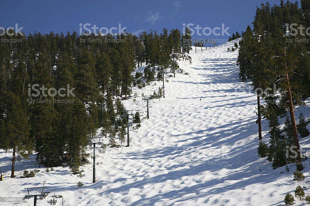Winter Ski Slope stock photo