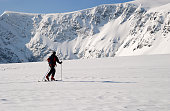 Winter ski touring in the heart of the mountain