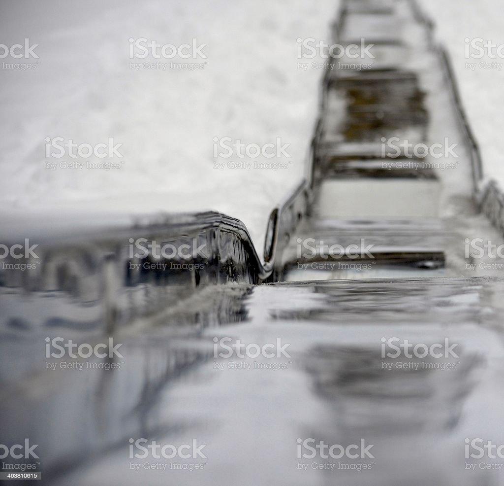 Winter Slide stock photo