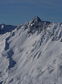 Winter snow covered mountain peaks in Europe. Great place for