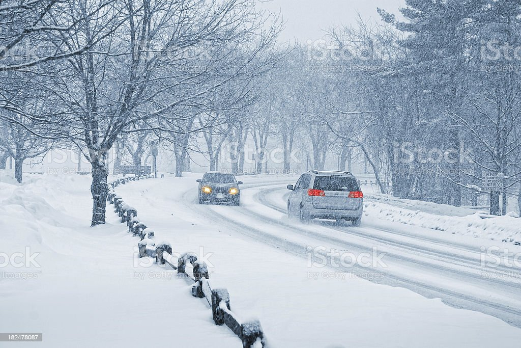 Winter Snow Driving stock photo
