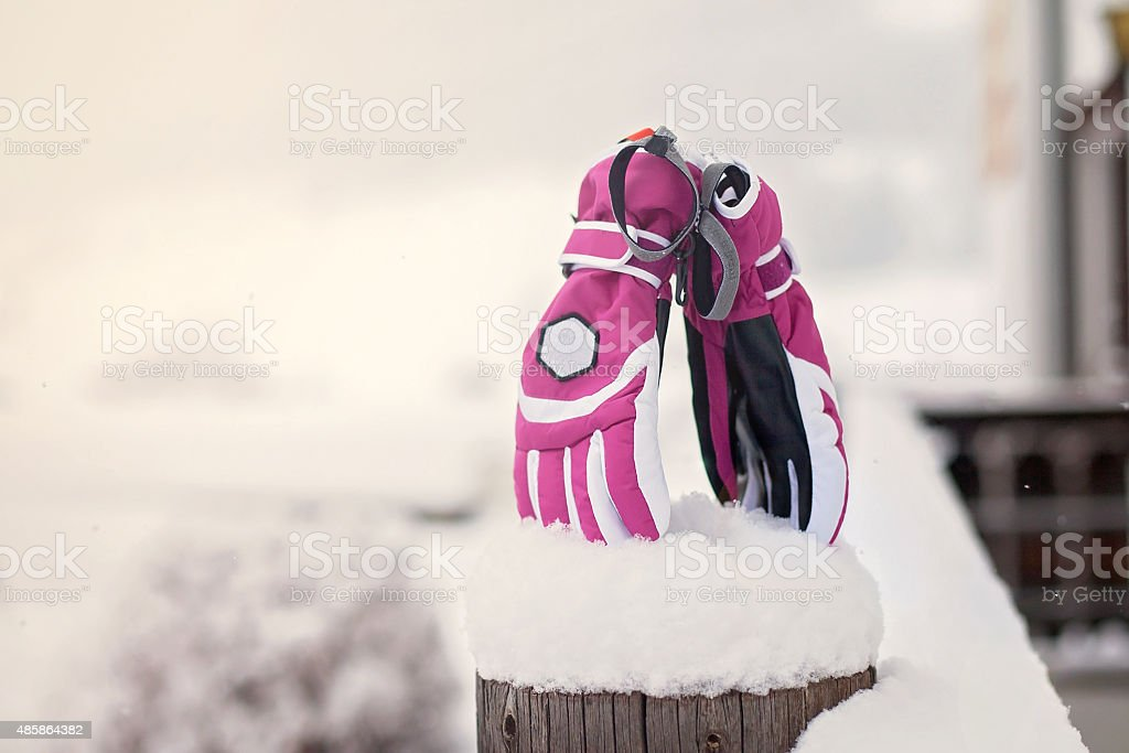 Winter Snow Gloves stock photo