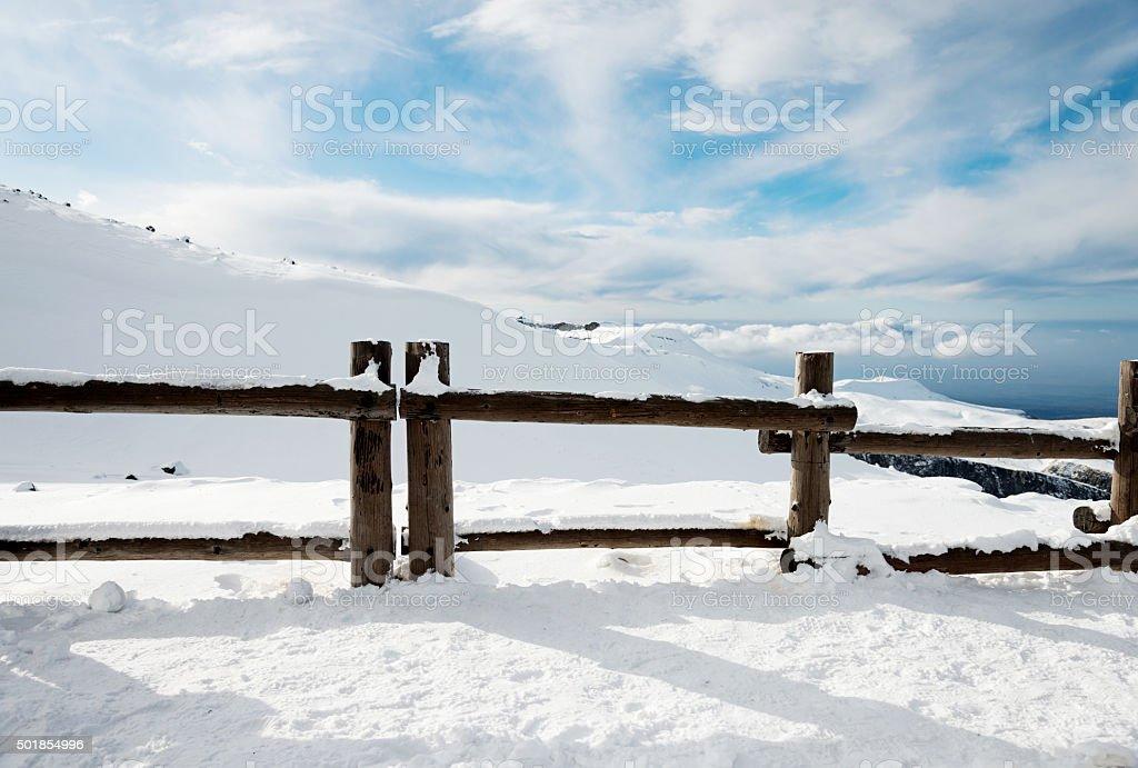 Winter snow landscape stock photo