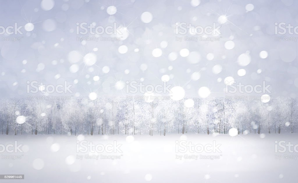 Winter snow landscape. stock photo