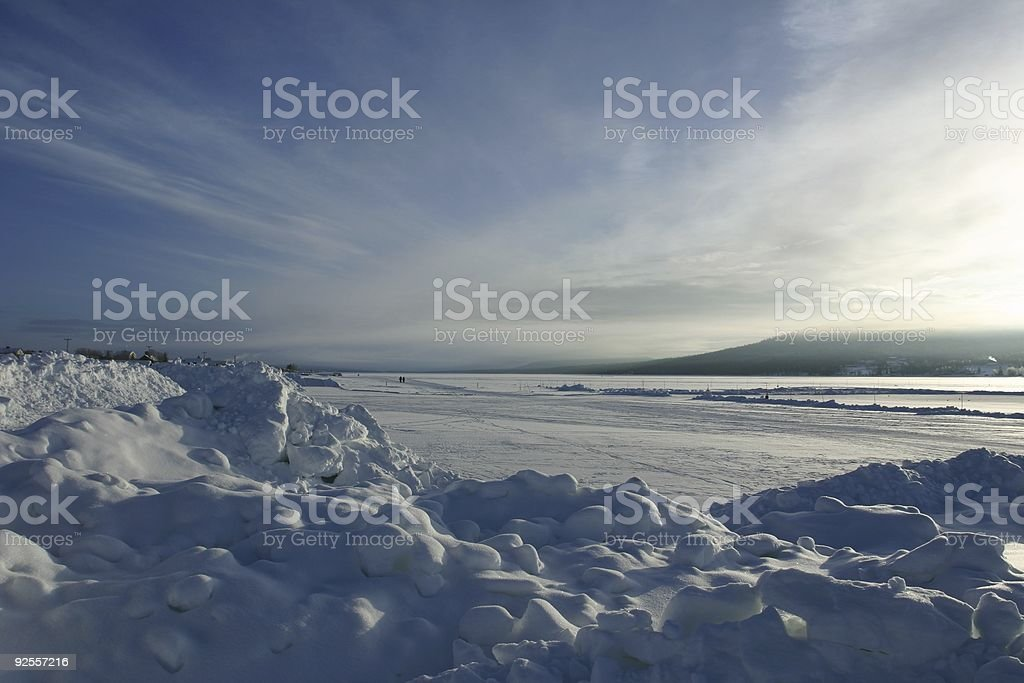 winter snow scene, Kiruna, Sweden royalty-free stock photo