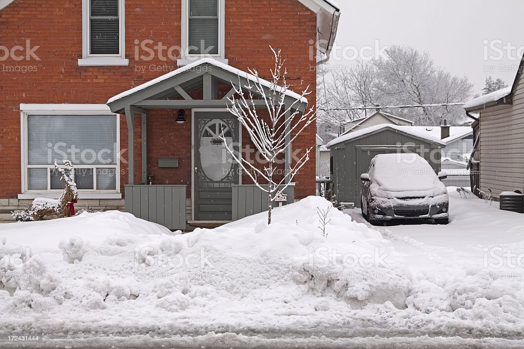 Winter snowbank royalty-free stock photo