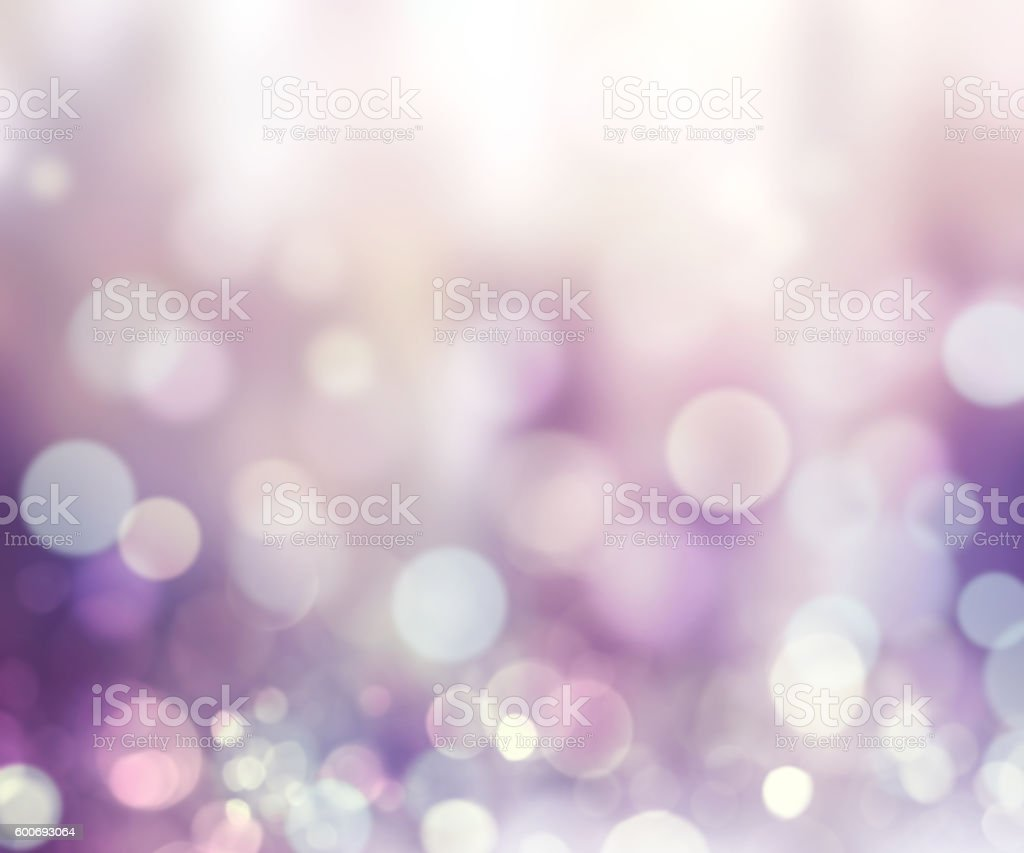 Winter snowy defocused lights violet illustration. stock photo